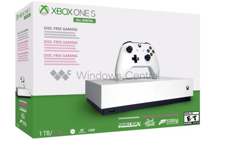 Xbox One S senza lettore di dischi potrebbe uscire a maggio