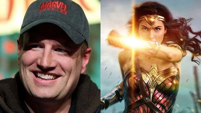 Un collage tra Kevin Feige e Wonder Woman