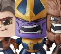 Alcuni dei Mighty Muggs di Hasbro