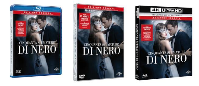 Cinquanta Sfumature di Nero esce il 7 giugno nelle tre edizioni segrete: DVD, Blu-Ray e 4K ULTRA HD
