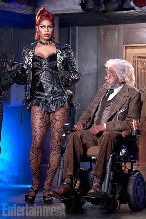 Laverne Cox in costume da Frank-N-Furter