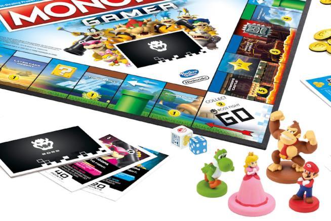 Il tabellone e le pedine di Monopoly Gamer