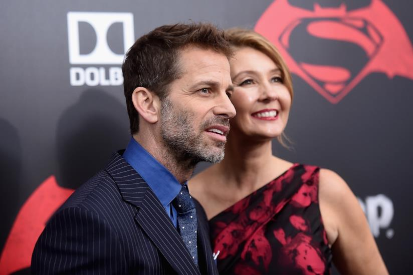 Zack Snyder assieme a sua moglie Deborah, alla premiere di Batmam v Superman