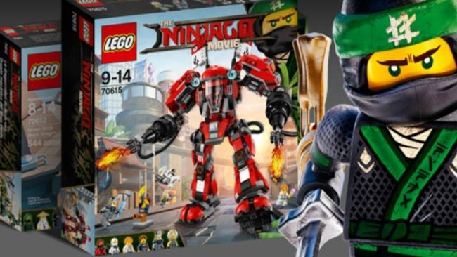 Alcuni dei set ispirati a LEGO Ninjago - Il Film
