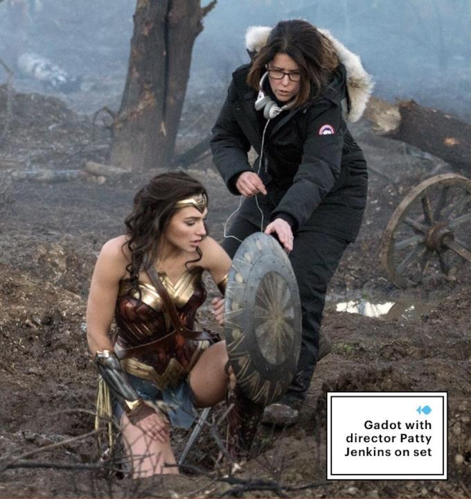 Gal Gadot e Patty Jenkins sul set di Wonder Woman