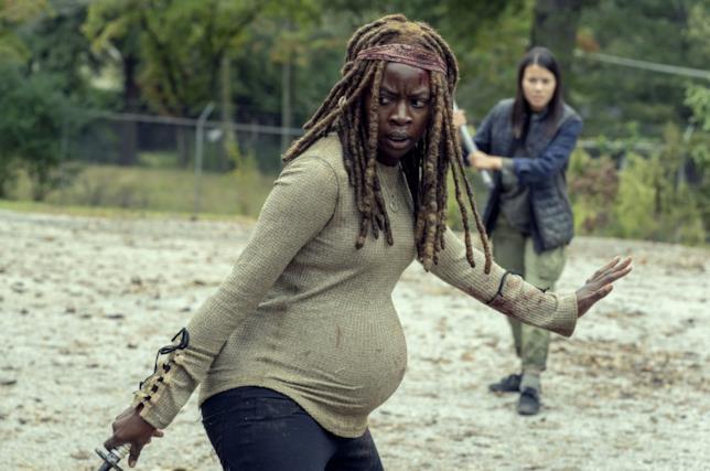 The Walking Dead episodio 9x14, Michonne incinta