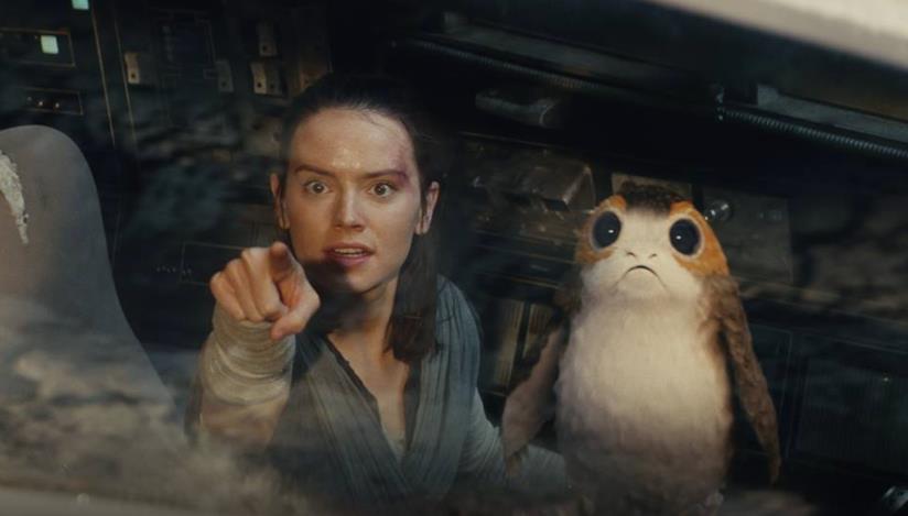 Daisy Ridley come Rey in Star Wars: Gli ultimi Jedi