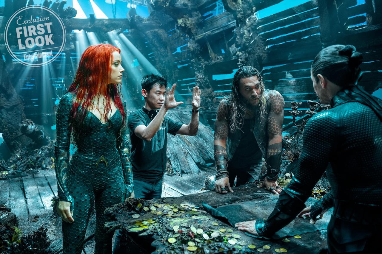 Dietro le quinte di Aquaman: il cast con James Wan