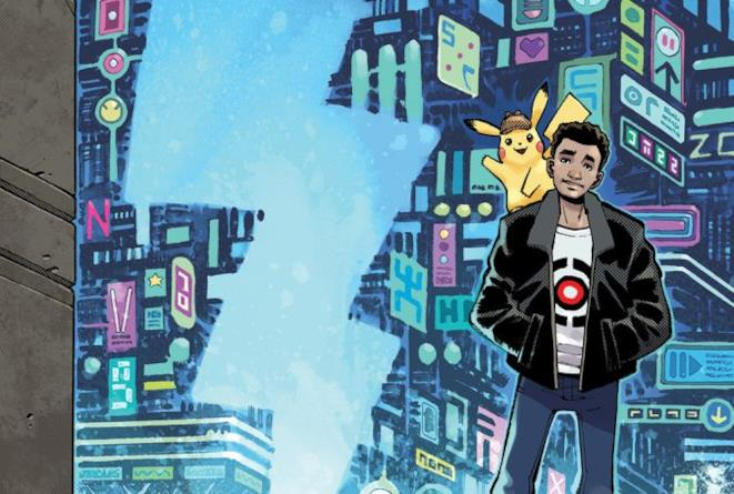 Artwork della graphic novel di Detective Pikachu