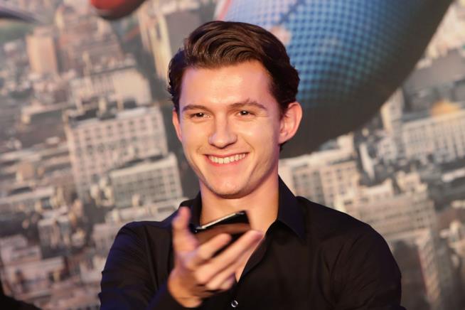 Tom Holland alla conferenza stampa di Spider-Man: Homecoming