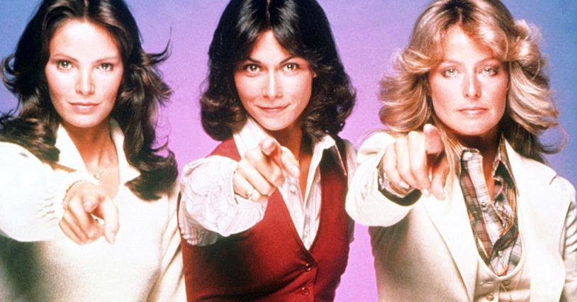 I tre angeli protagonisti della serie TV Charlie's Angels