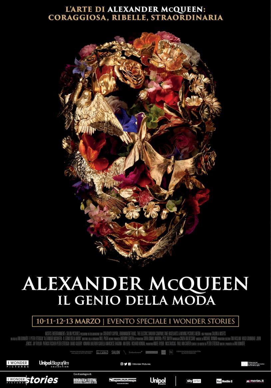 La locandina del documentario Alexander McQueen – Il genio della moda