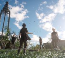 Il party di Final Fantasy XV esplora una delle valli del gioco