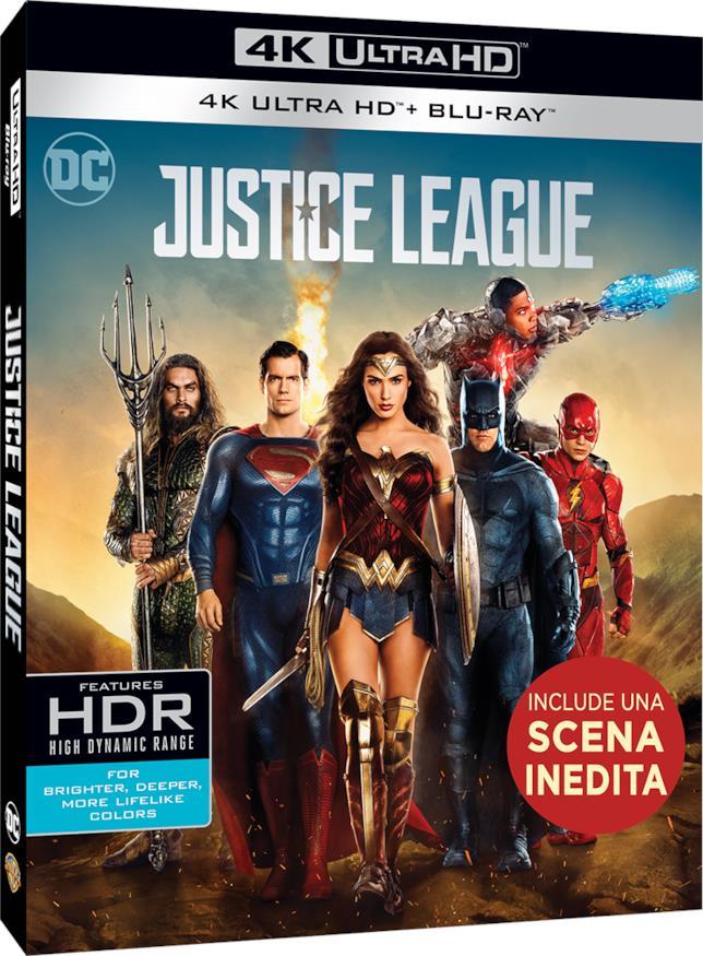 Cover del cofanetto 4K UHD di Justice League
