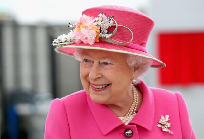 Primo piano della Regina Elisabetta II