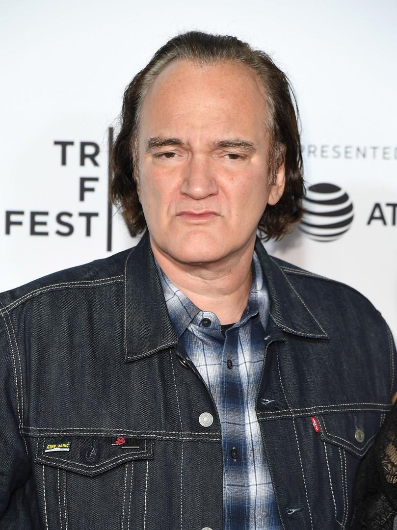Primo piano del regista Quentin Tarantino