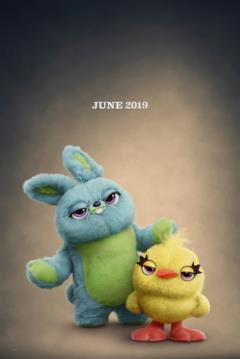 Bunny & Ducky nel character poster di Toy Story 4