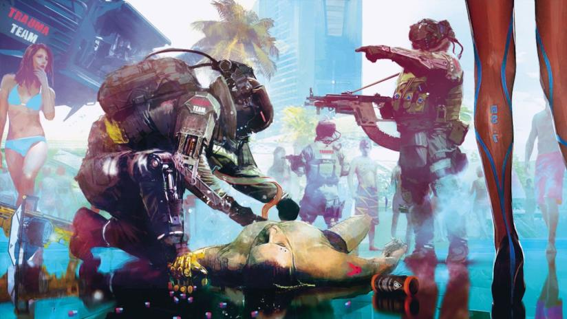 Uno splendido artwork di Cyberpunk 2077