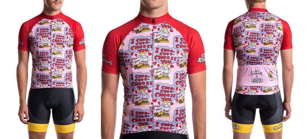 Tuta da ciclismo dei Simpson a tema Ciuff Ciuff Ti Acciuffo!
