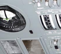 L'interfaccia DSKY dell'AGC sul pannello del modulo di comando Apollo