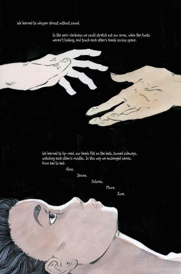 Pagina 8 del graphic novel The Handmaid's Tale