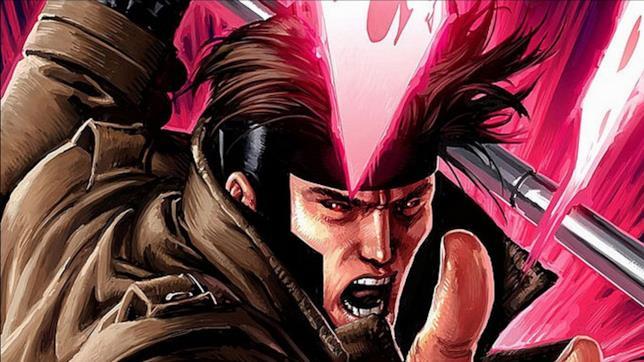 Un primo piano di Gambit dai fumetti Marvel