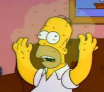 Homer Simpson si ammala