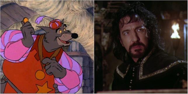 Lo Sceriffo-lupo di Nottingham della Disney e Alan Rickman