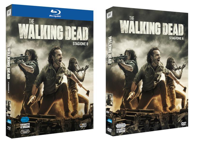 Le cover delle due versioni Home Video di The Walking Dead 8