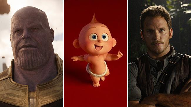 Josh Brolin aka Thanos, Jack-Jack e Chris Pratt aka Owen Grady