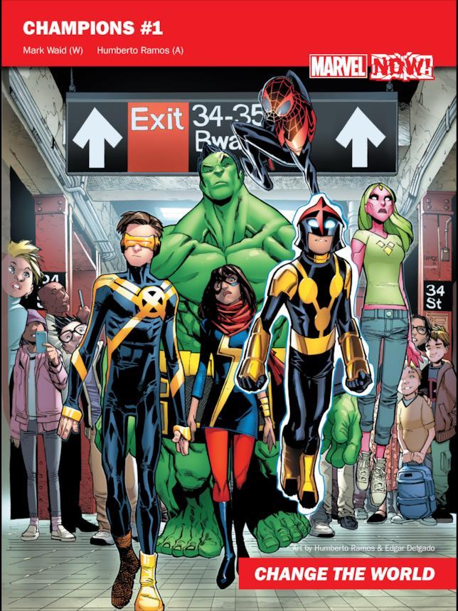 Hulk farà parte di Champions, il giovane gruppo di eroi Marvel