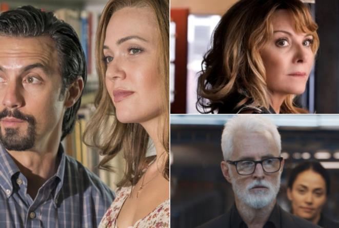 Un collage di serie FOX e NBC