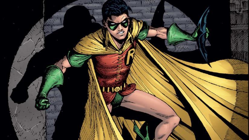 Un'immagine di Robin tratta dai fumetti DC Comics