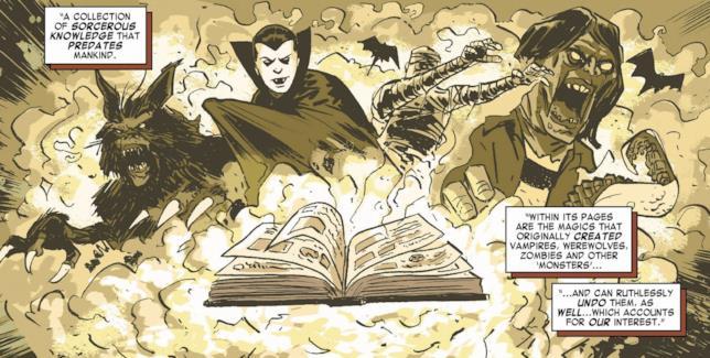Una rappresentazione del Darkhold nei fumetti