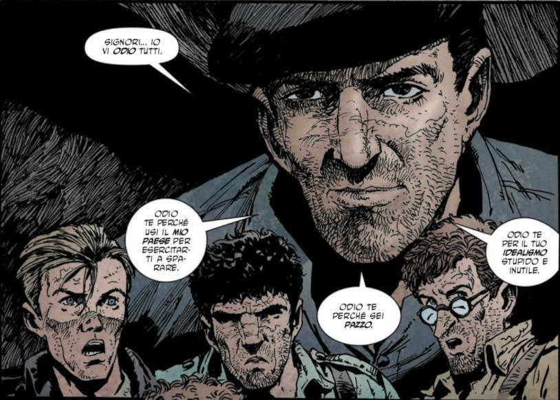Vignetta con lo spagnolo de Le Storie di Guerra di Garth Ennis