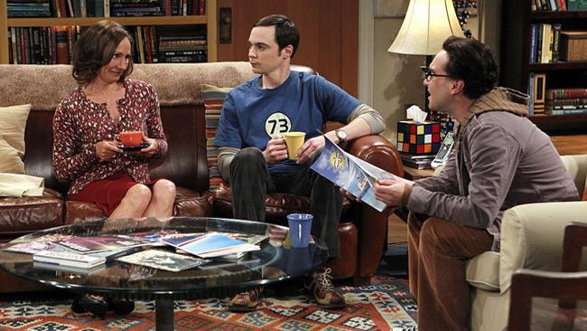 Laurie Metcalf in una scena di The Big Bang Theory