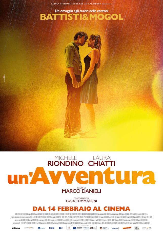 La locandina del film UN'avventura, l'omaggio alla coppia Mogol-Battisti