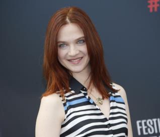 L'attrice Odile Vuillemin al Monaco TV Festival