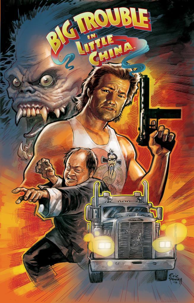 La cover del primo numero del fumetto di Grosso Guaio a Chinatown