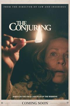 Carolyn Perron nella locandina di The Conjuring