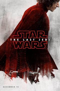 Kylo Ren nel character poster di Star Wars - Gli ultimi Jedi