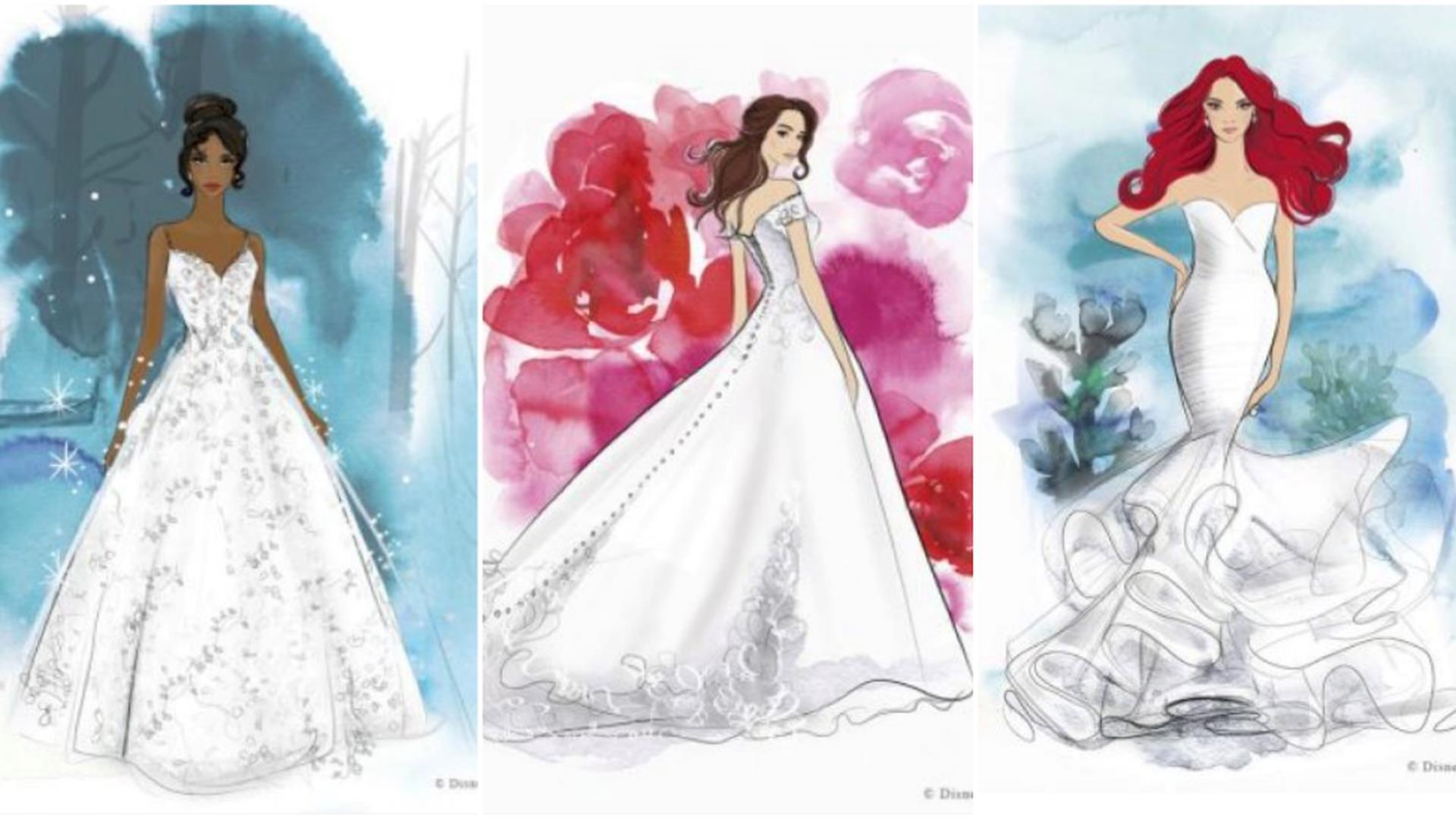 Abiti Da Sposa Walt Disney.Disney Svela I Suoi Vestiti Da Sposa Ispirati Alle Principesse