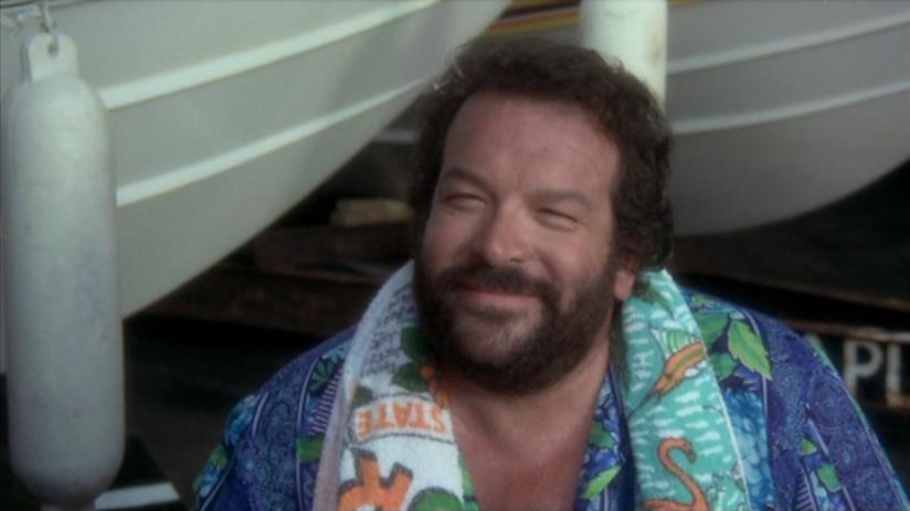 Bud Spencer in una scena del film Pari e dispari (1978)
