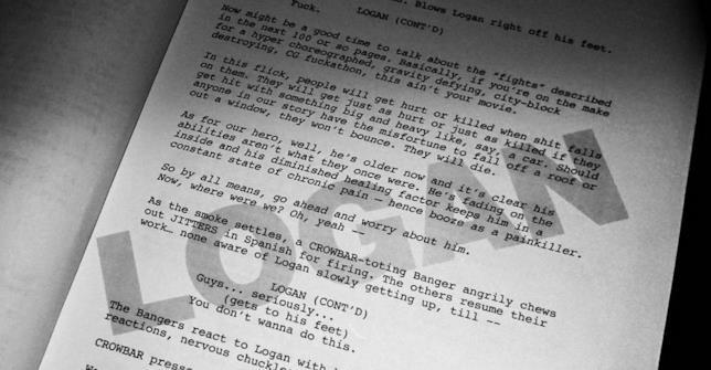 Una pagina dello scrip di Logan - The Wolverine pubblicata da James Mangold