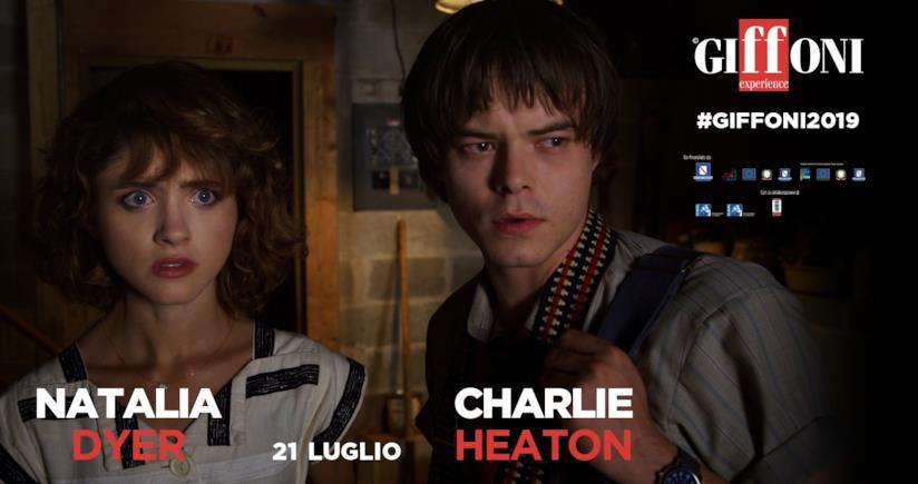 Natalia Dyer e Charlie Heaton di Stranger Things al Giffoni Film Festival