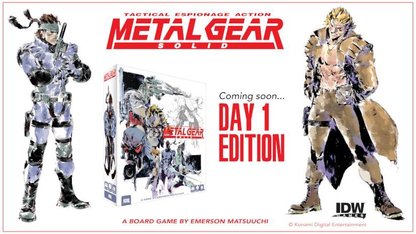 Un'immagine promozionale del gioco da tavolo di Metal Gear Solid