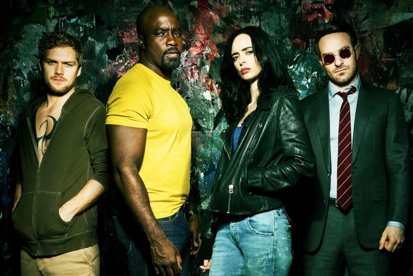 I Defenders in primo piano, in un'immagine promozionale della serie