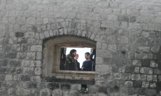 Jon Snow e Cersei insieme sul set di Game of Thrones