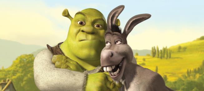 Shrek e il suo 'fedele' ciuchino