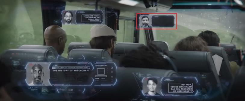 Le informazioni fornite dagli occhiali smart di Stark indossati da Peter nel trailer di Spider-Man: Far From Home